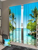 Комплект фотоштор ТомДом Райский бассейн