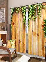 Комплект фотоштор ТомДом Деревянная стена терка для ног деревянная основа двухсторонняя solinberg ширина 60 мм