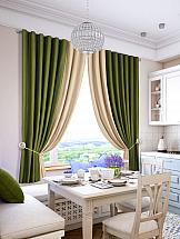 Комплект штор ТомДом Гирос (молочно-зеленый) комплект штор томдом султан зеленый