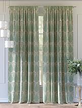 Комплект штор ТомДом Этельн (зеленый) комплект штор томдом этельн зеленый