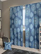 Комплект штор ТомДом Ван Гог-К (синий)