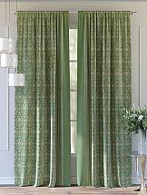 Комплект штор ТомДом Султан (зеленый) комплект штор томдом султан зеленый