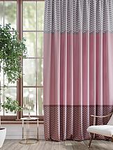 Портьера ТомДом Тиниса (серо-розовый) портьера томдом кравис
