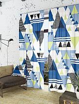 Комплект штор ТомДом Линт-К (синий)
