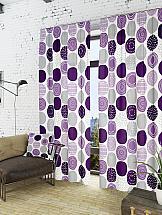 Комплект штор ТомДом Роули-К (фиолет.) dress 9787
