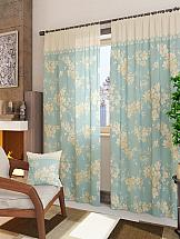 Комплект штор ТомДом Вивида-К (голубой) шторы томдом классические шторы вивида п цвет розовый