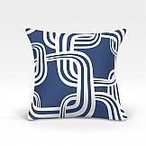 цена Декоративная подушка ТомДом Тонга-О (синий) онлайн в 2017 году