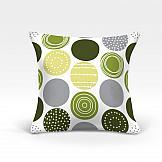 цена Декоративная подушка ТомДом Роули-О (зеленый) онлайн в 2017 году