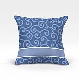 цена Декоративная подушка ТомДом Илвин-О (синий) онлайн в 2017 году